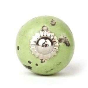 Πόμολο πράσινο vintage (3cm-464cm-4mm)